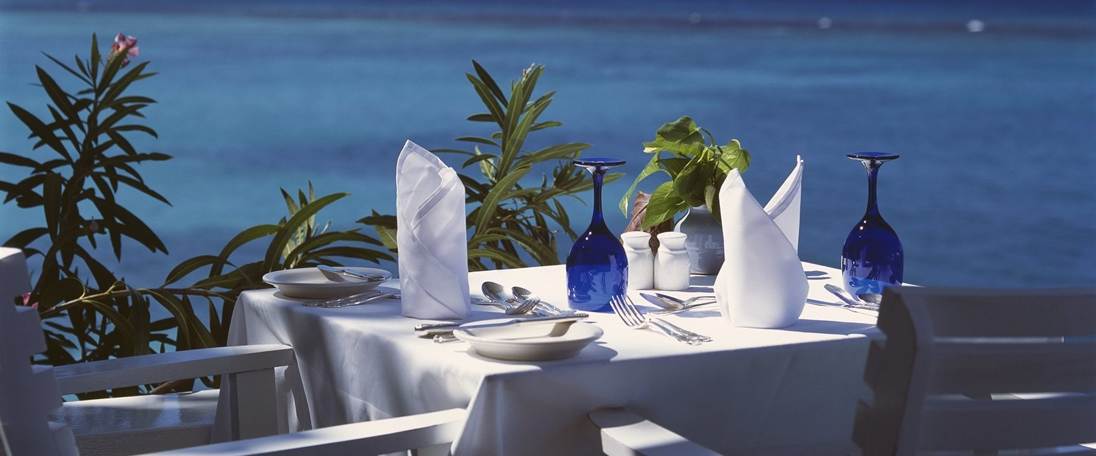 Enjoy breakfast overlooking the blue seas at Jamaica Inn, Jamaica