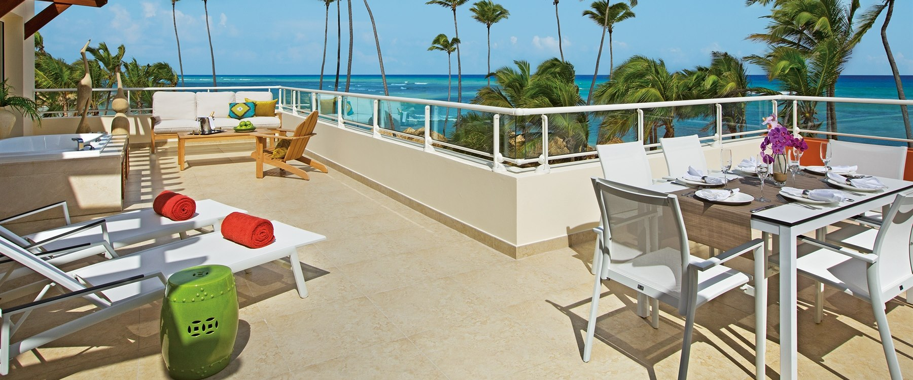 Presidential Suite Terrace at Breathless Punta Cana Resort & Spa