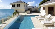Private pool area at Rock Cottage at Blue Waters, Antigua