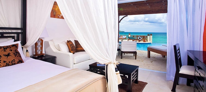 Swim-up Junior Suite at Calabash Cove, St Lucia