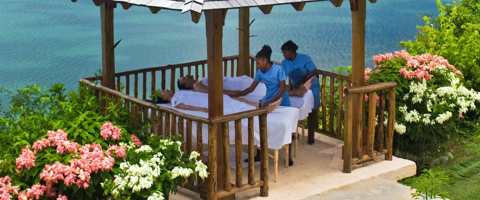 Couples Massage in the Gazebo at Calabash Cove, St Lucia