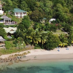 Aerial View of Calabash Cove, St Lucia