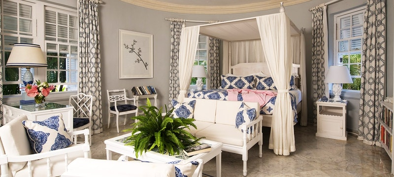 Beautiful interior of Camelot Suite at Cobblers Cove, Barbados