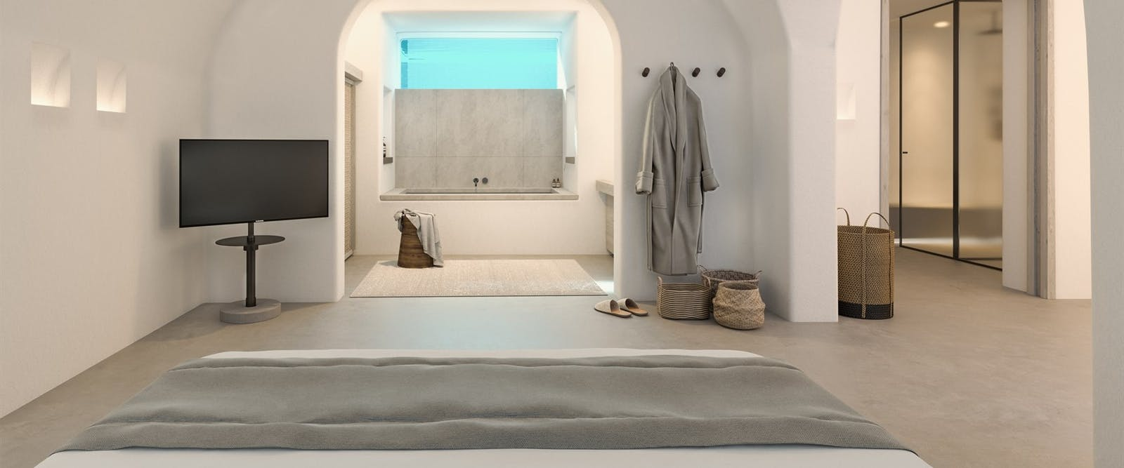 Accommodation at Canaves Oia Epitome, Santorini, Greece