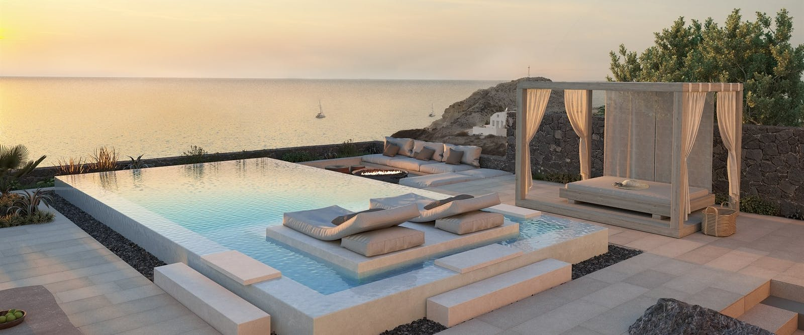 Swimming Pool at Canaves Oia Epitome, Santorini, Greece