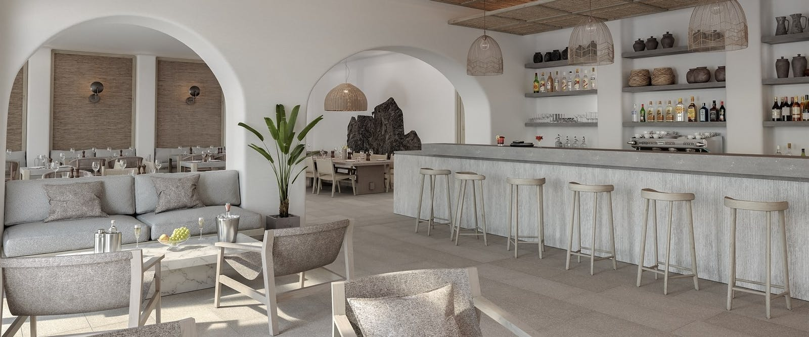 The Bar at Canaves Oia Epitome, Santorini, Greece