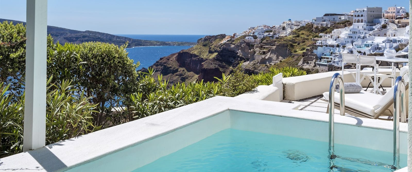 Private Pool at Canaves Oia Hotel, Santorini, Greece