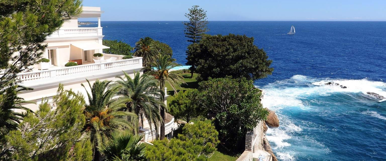 Beautiful view at Cap Estel, French Riviera