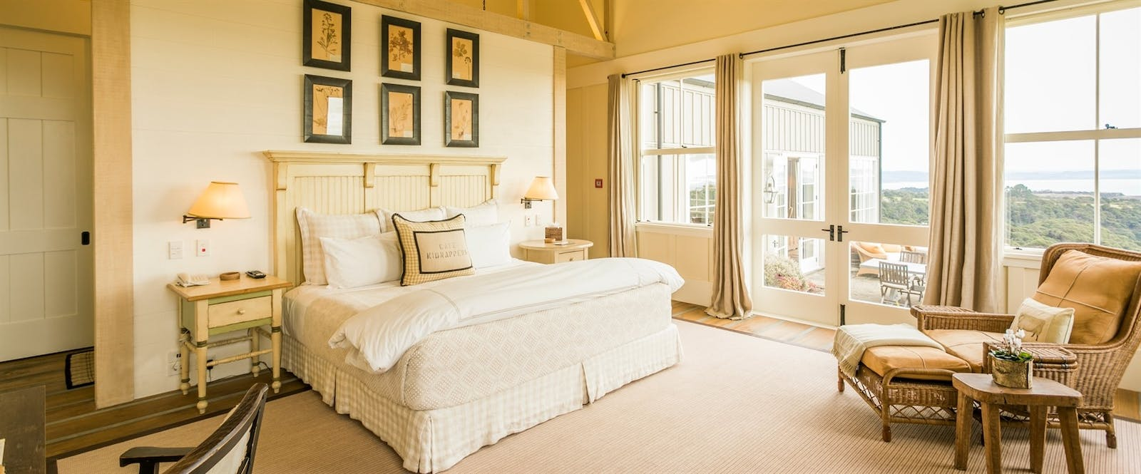 Owner's Cottage Master Bedroom at The Farm at Cape Kidnappers, Hawke's Bay