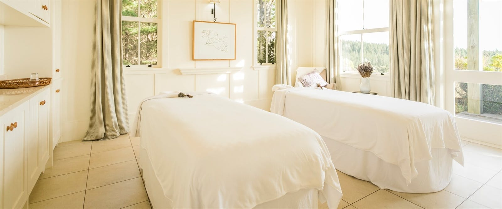 Spa Couples Treatment Room at The Farm at Cape Kidnappers, Hawke's Bay