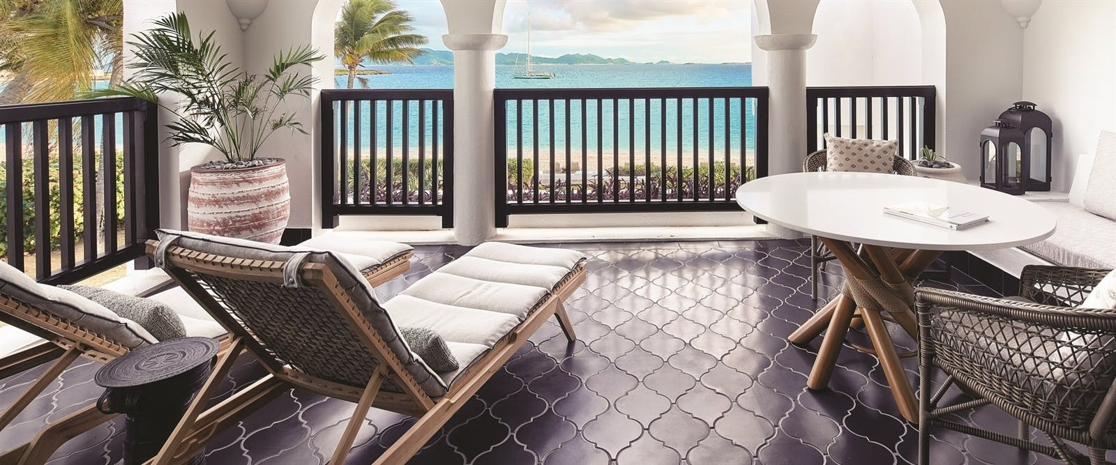 Terrace with Ocean View at Belmond Cap Juluca, Anguilla