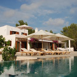 Pool area at Casa Des Jondal, Ibiza