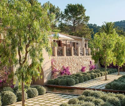 Deluxe Terrace at Castell Son Claret, Mallorca, Spain