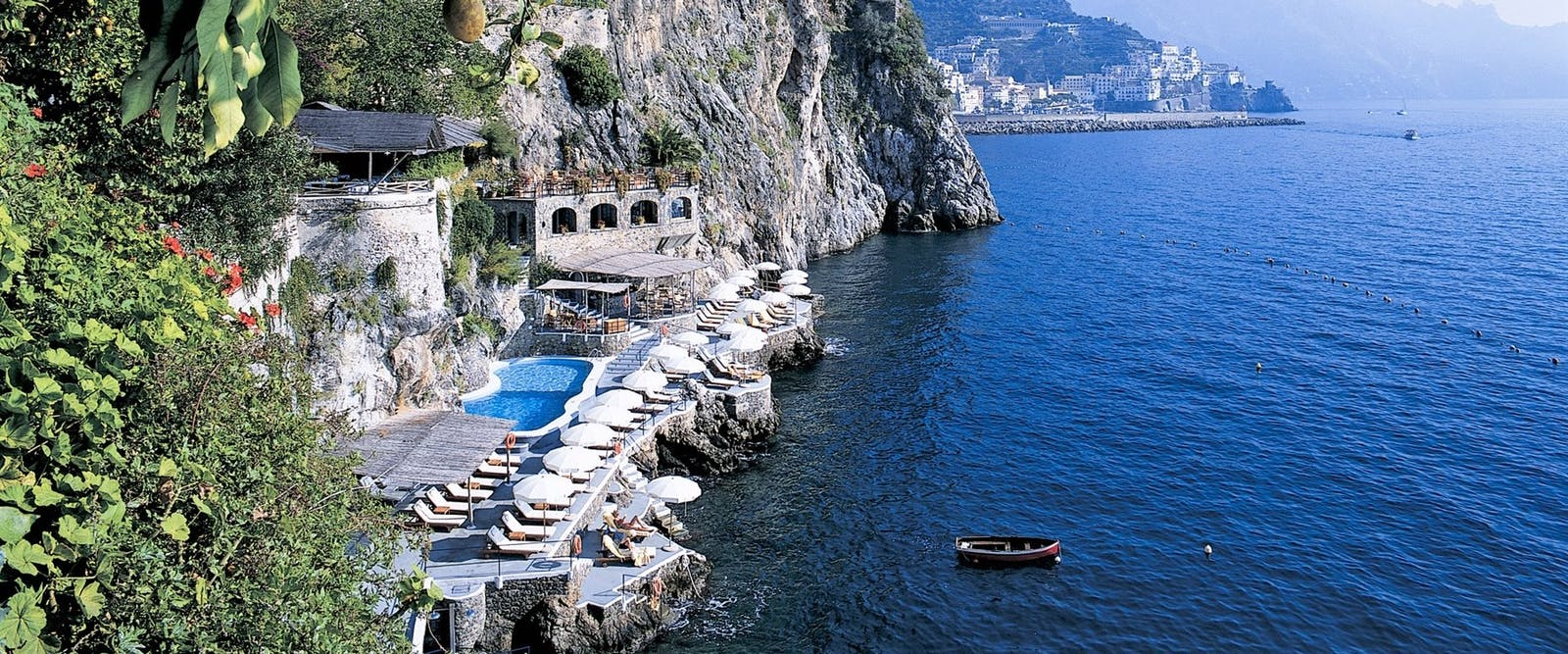 Beach Club and Pool at Hotel Santa Caterina, Amalfi Coast, Italy