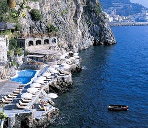Beach Club and Pool at Hotel Santa Caterina, Amalfi Coast