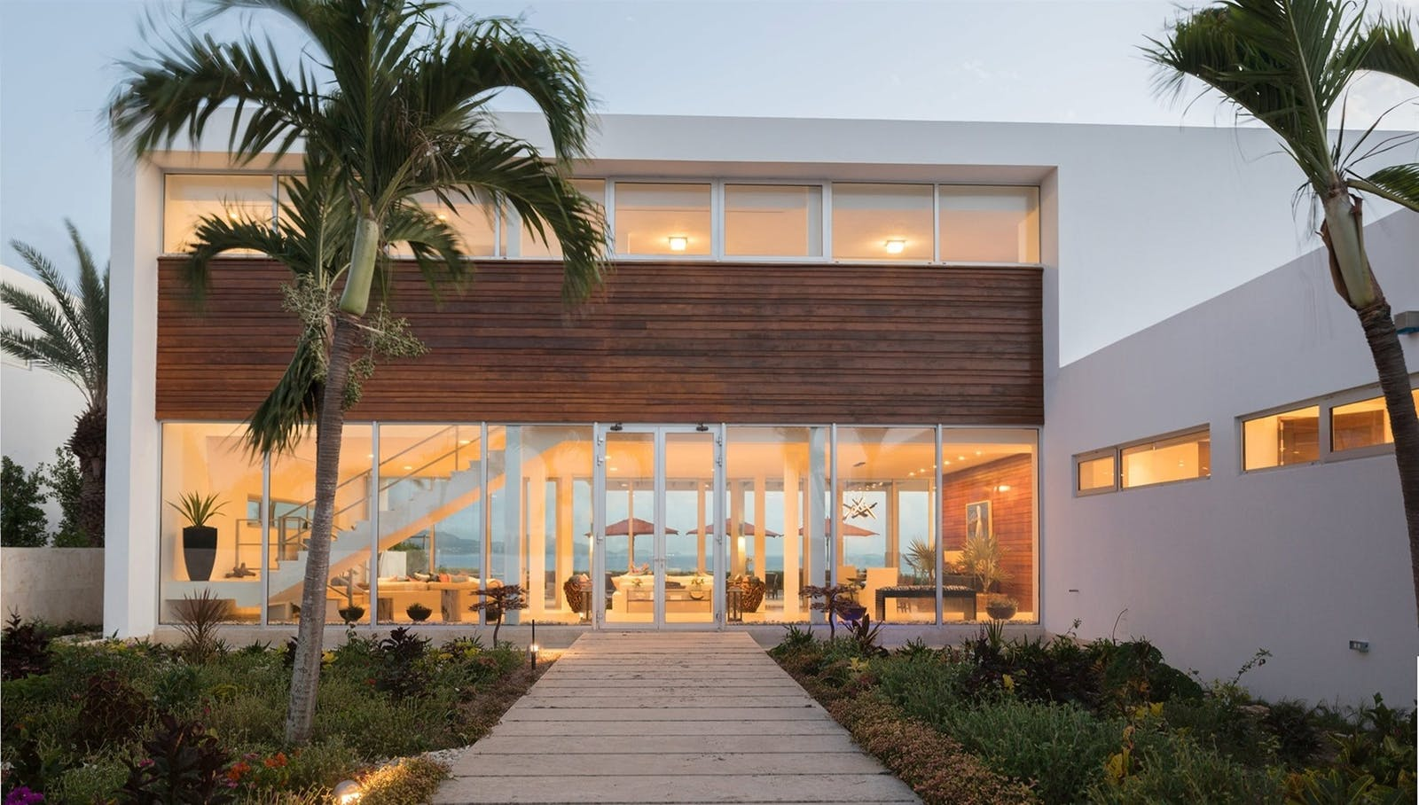 exterior of champagne shores the villa anguilla