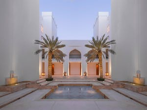 swimming pool at the chedi muscat oman