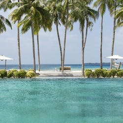Swimming Pool Overlooking the Beach at Cheval Blanc Randheli, Maldives