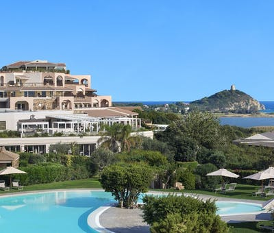 Hotel overview at Chia Laguna, Sardinia
