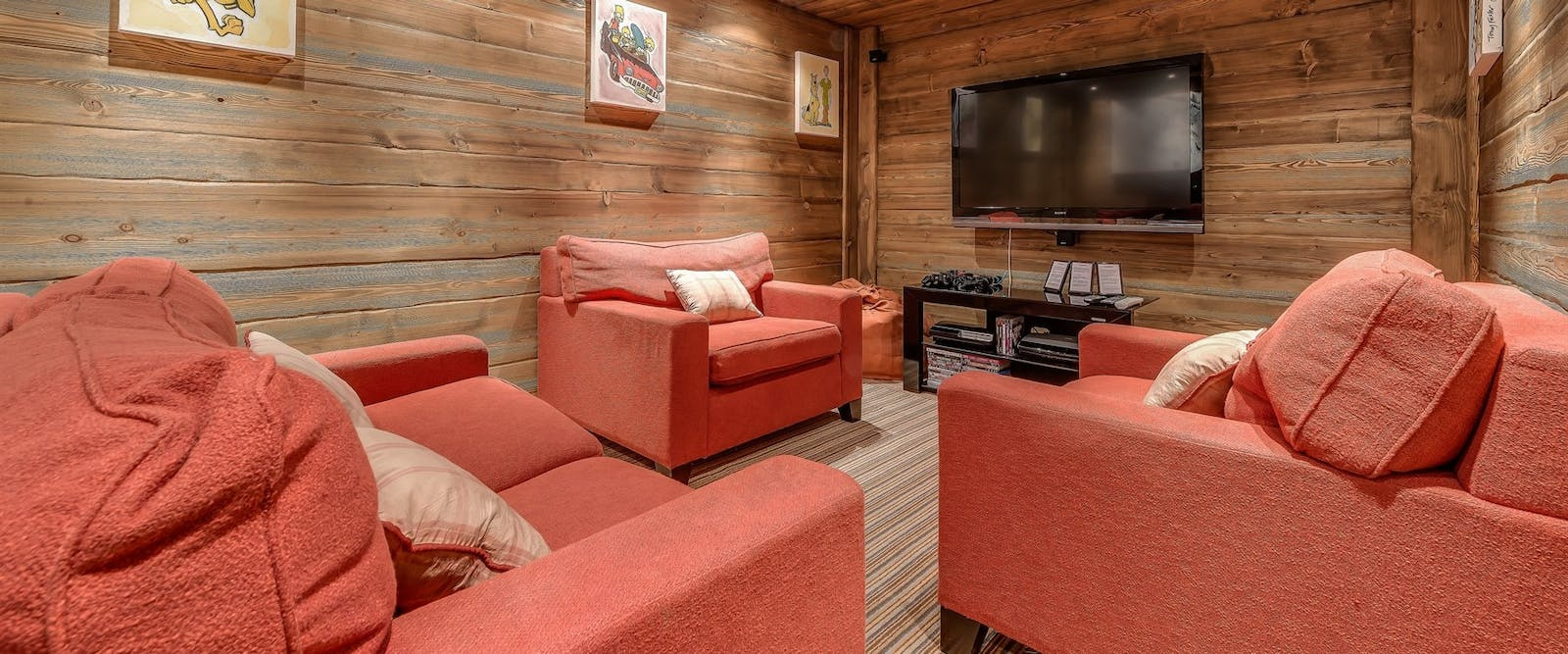 Cinema Room at Chalet Chopine