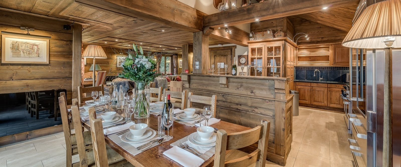 Dining at Chalet Chopine
