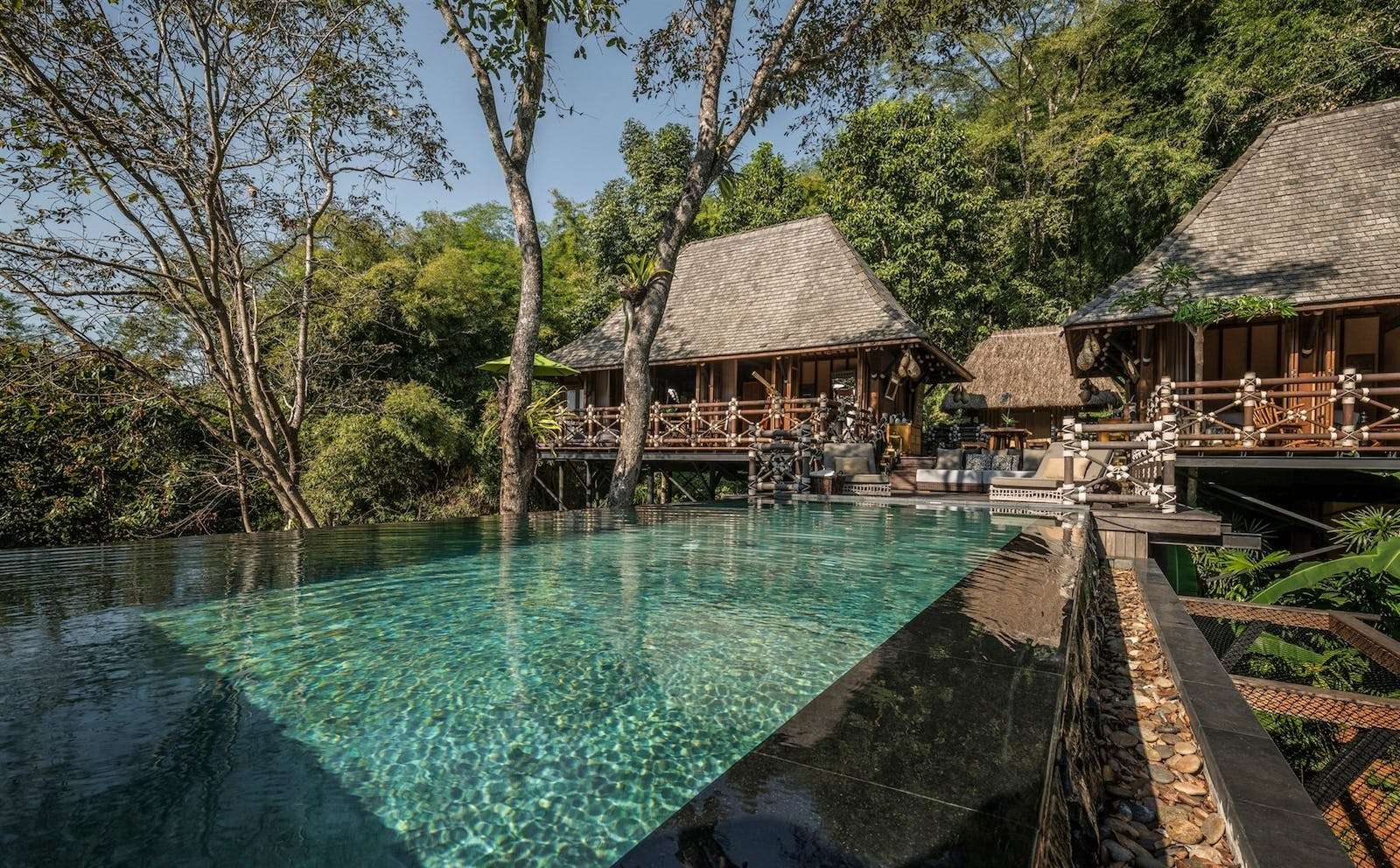 Outdoor Pool of Two-Bedroom Explorer's Lodge, Four Seasons Tented Camp Golden Triangle, Thailand