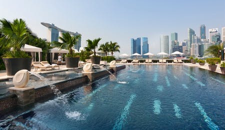 Pool area, Mandarin Oriental, Singapore, Asia