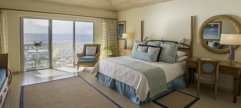 One bedroom suite with ocean view at Curtain Bluff, Antigua