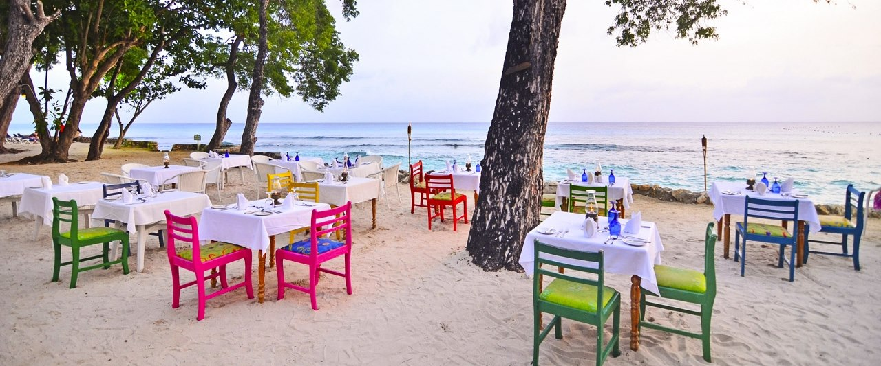 Dinner Beach Side at The Club Barbados