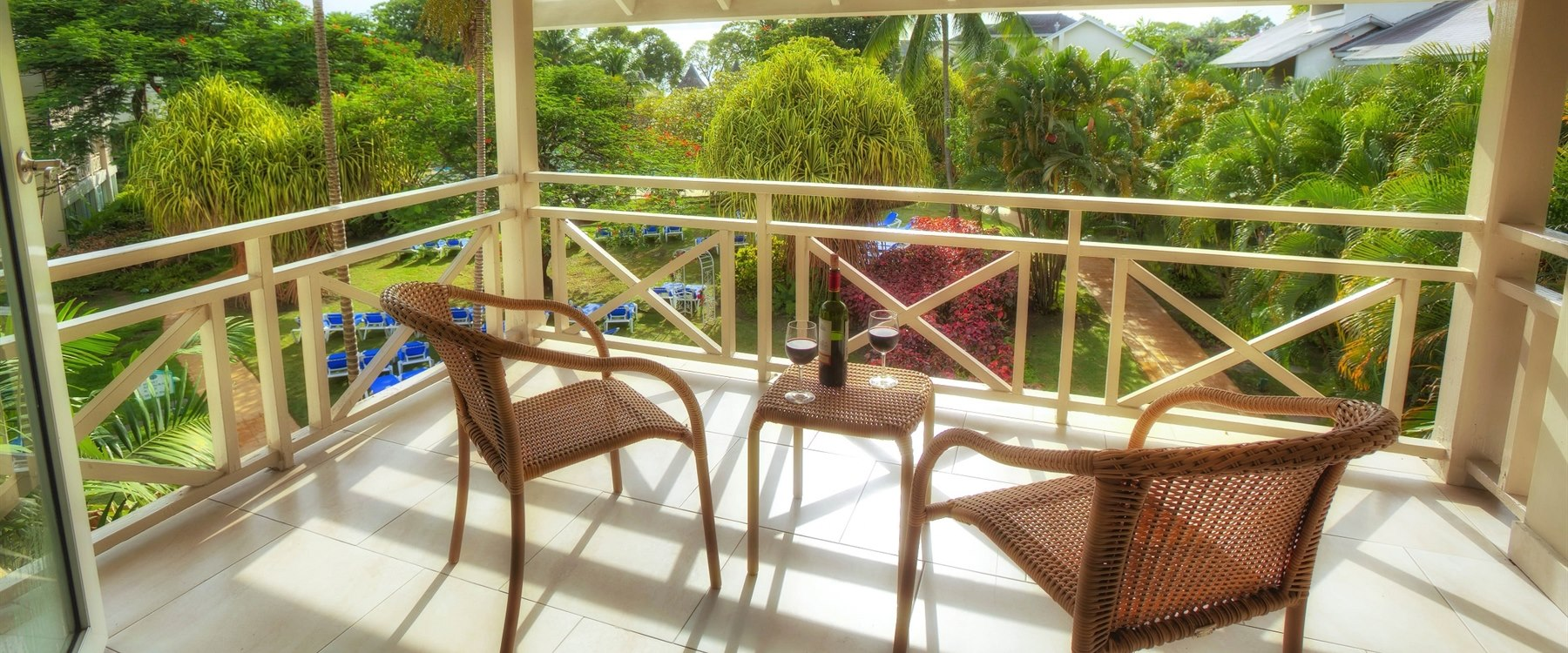 Balcony with Garden View at The Club Barbados