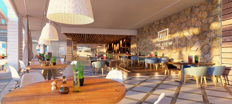 club restaurant at seven pines resort ibiza