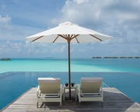 Sunset Water Villa Pool at Conrad Maldives Rangali Island