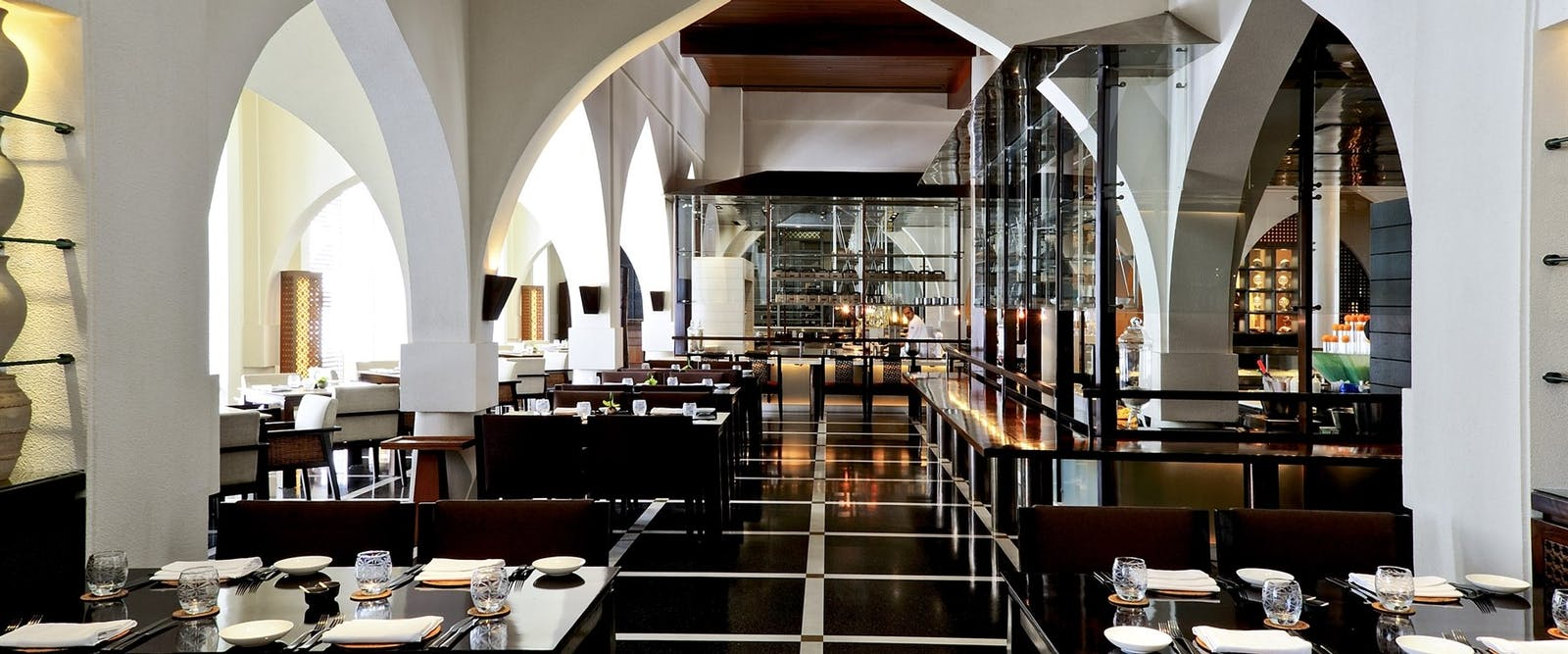 The restaurant main area at The Chedi Muscat, Oman