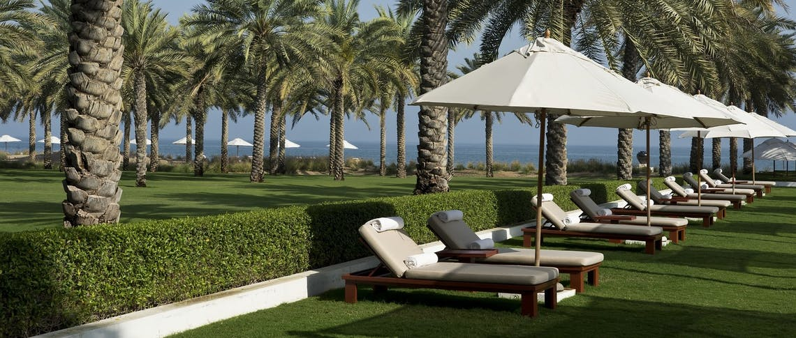 Gardens overview at The Chedi Muscat, Oman