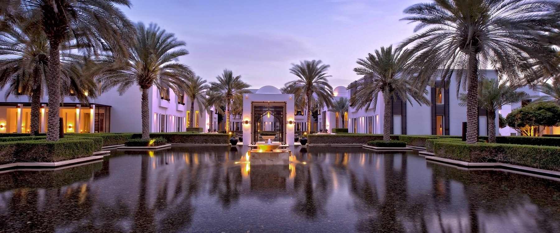 The water garden at The Chedi Muscat, Oman