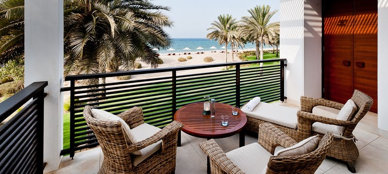 Club suite terrace ocean view, The Chedi Muscat, Oman