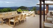 Crow's Nest terrace at Peter Island Villa Estates, British Virgin Islands