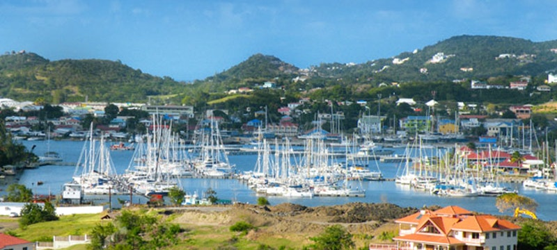 View of the bay at Coco Palm, St Lucia