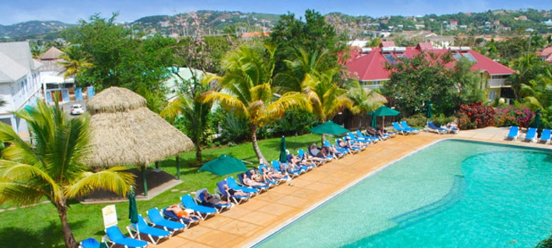 Beautiful views of Coco Palm, St Lucia