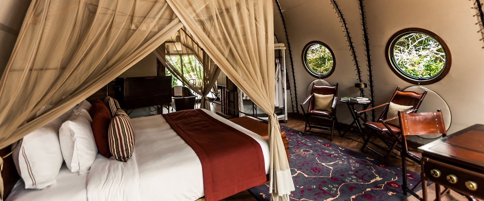 cocoon interior at Wild Coast Tented Lodge, Yala National Park