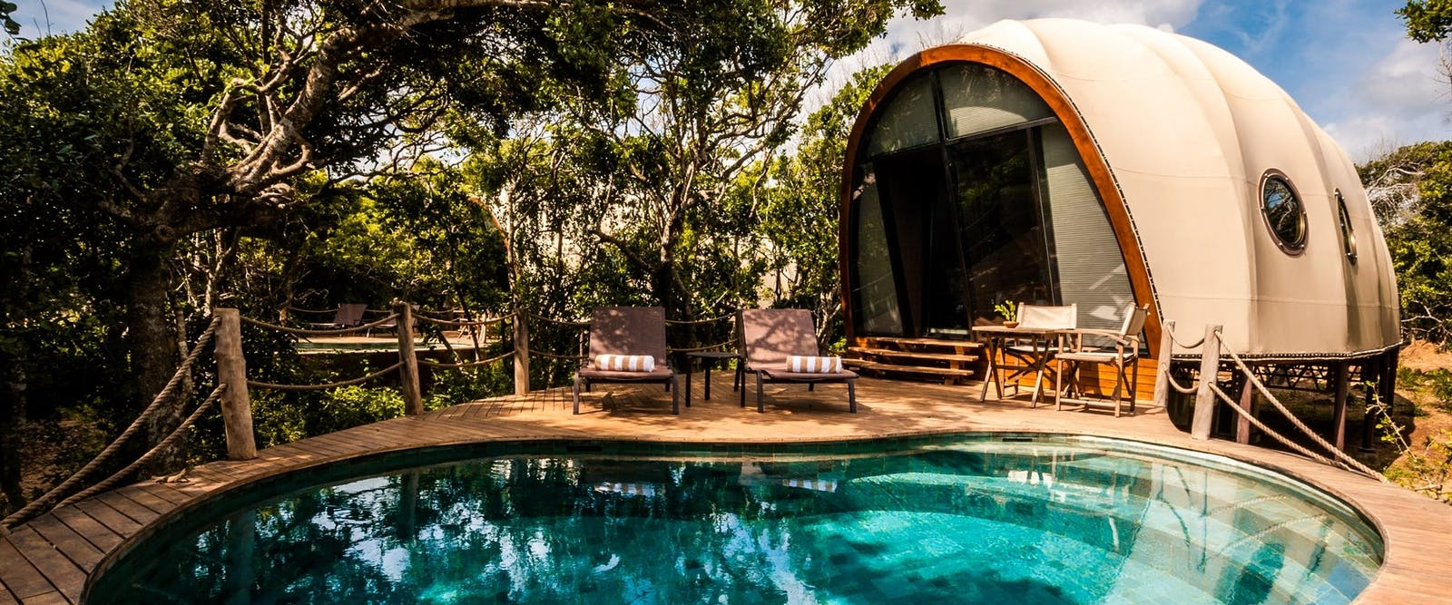 Cocoon pool at Wild Coast Tented Lodge, Yala National Park