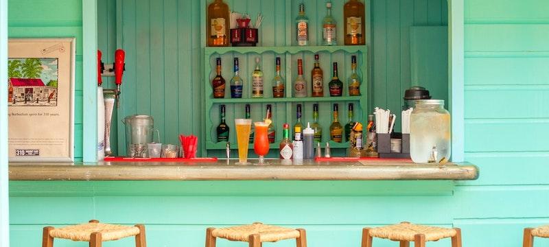 Casual beach side bar and grill at Sugar Bay Barbados