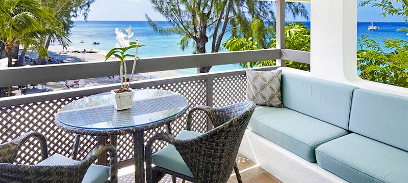 Private balcony at Colony Club, Barbados