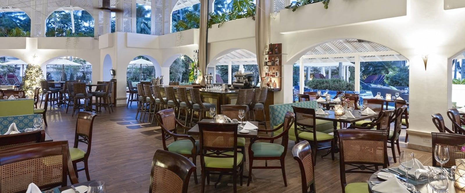 Laguna Restaurant at Colony Club by Elegant Hotels, Barbados, Caribbean