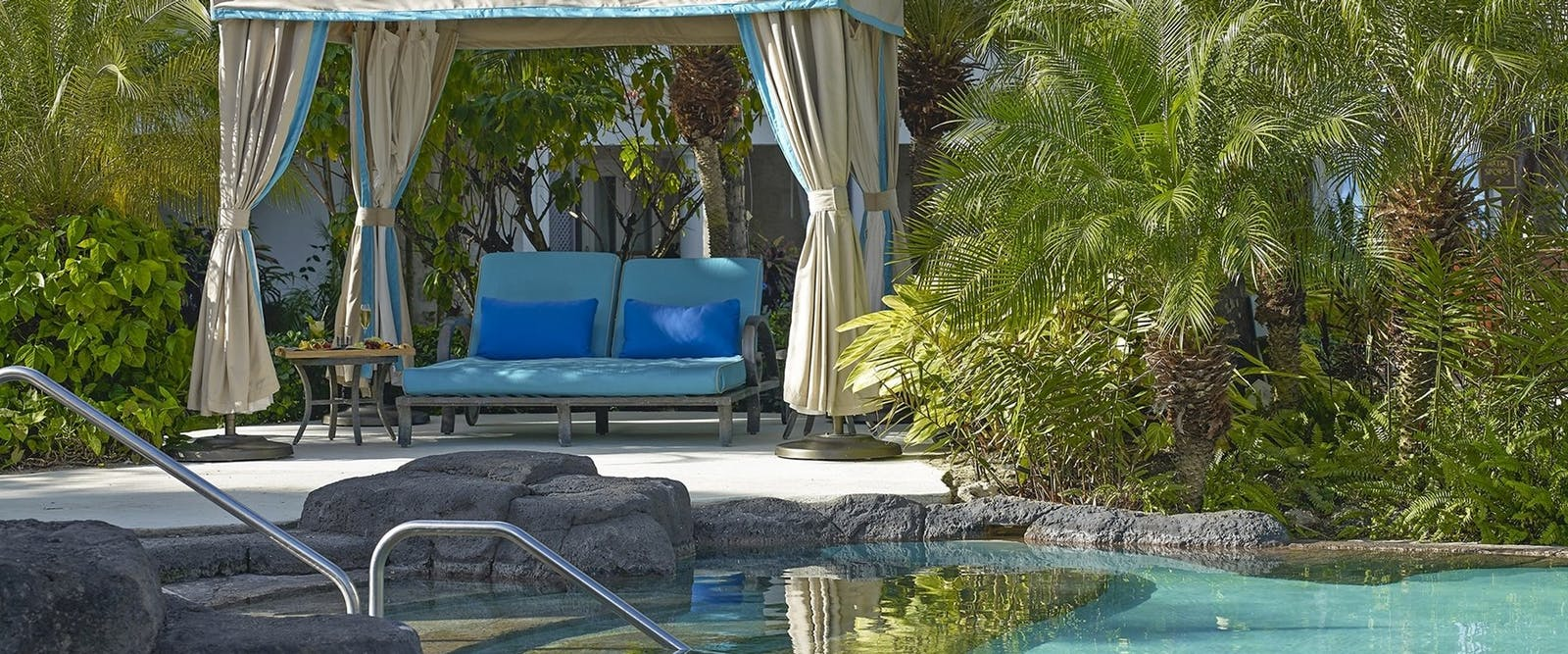 Poolside Cabana at Colony Club by Elegant Hotels, Barbados, Caribbean