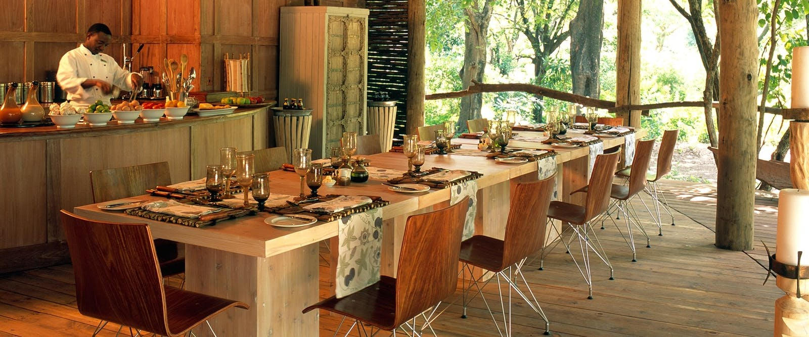Dining at &Beyond Lake Manyara Tree Lodge