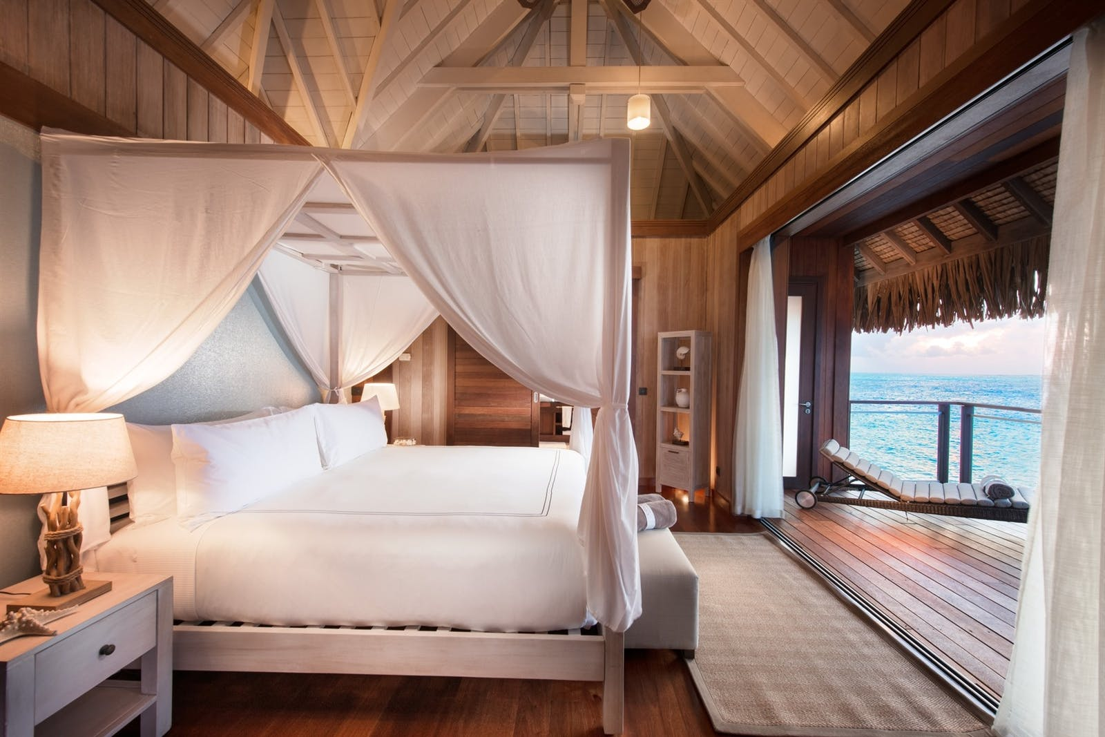 Villa Bedroom at Conrad Bora Bora Nui, French Polynesia