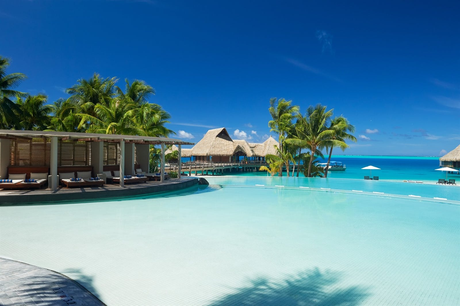 Pool View at Conrad Bora Bora Nui, French Polynesia