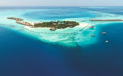 Aerial View of Constance Moofushi, Maldives, Indian Ocean