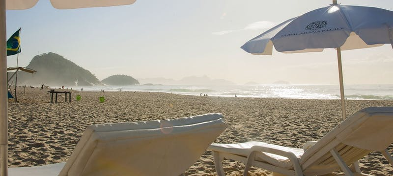 Beach area at Belmond Copacabana Palace, Brazil